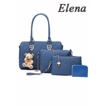 Elena X-522 5 in 1 Premium Bag Set (Blue)With Mini Teddy