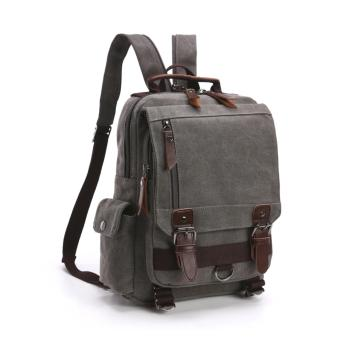 Elite Canvas Men Sling Bag / Laptop Backpack / Casual Backpack -Gray Sling Backpack