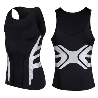Elite summer fitness breathable quick-drying slim fit clothing sports clothing (Energy vest black) (Energy vest black)