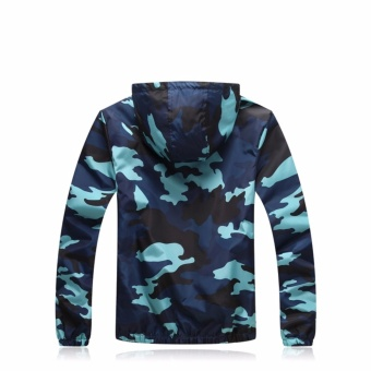 Encontrar Men Camouflage Hooded Jackets Winproof M-3XL (Grey) -intl - 5
