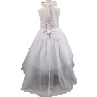 EOZY 2016 Summer Fashion Girls Dress Kids Dresses White PrincessTutu Dress For Birthday Photo Wedding Party (White) - Intl - 5