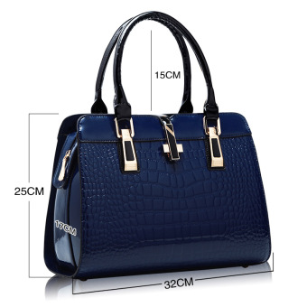 European and American female New style winter mommy bag (Sapphire blue color)