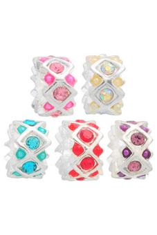 European Charm Alloy Beads B07539 Silver Plated