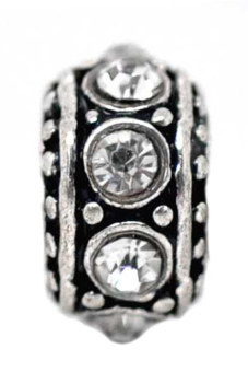 European Charm Alloy Beads B09185 Antique Silver - picture 2
