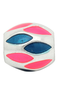 European Charm Alloy Beads K00891 Silver Plated