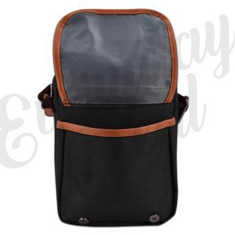 Everyday Deal 802 Mens Sling Messenger Crossbody Bag (Black) - 4