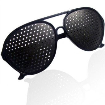 Eyesight Correcting Stenopeic Glasses (Black)