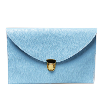 Fancyqube Envelope Chain Purse Handbag (Light blue)