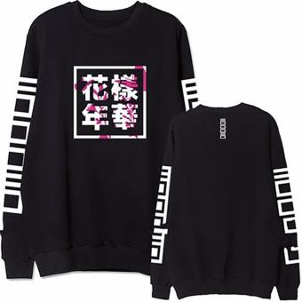 Fancyqube Fashion Bangtan Boys Kpop BTS Women Hoodies Sweatshirts Black - intl