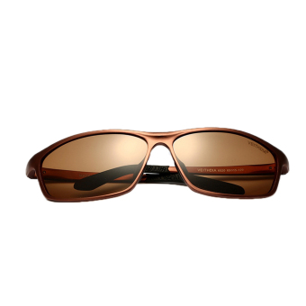 Fancyqube Fishing Car Drivers Mirror Men's Sunglasses Coffee