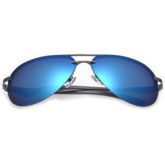 Fancyqube Metal Square-shaped Men's Uv Polarized Sunglasses Blue