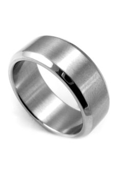 Fancyqube Stainless Steel Ring Band Titanium Men Wedding Silver