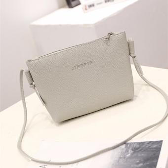 Fashion 3 in 1 Jingpin PU Leather Shoulder Bag Set (Grey) - 3