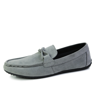 Fashion Autumn New Simple Loafers Grey