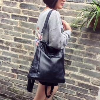 Fashion Backpacks PU leather handbag Korean fashion leisure travel female backpack can handbag Forteenagers Ladies Girl Back Pack Bagpack Mochila (black) - intl - 5