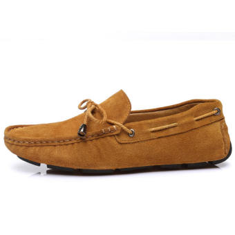 Fashion Breathable Mesh Sport Lace-Ups Men Low Cut Sneakers-Brown - picture 2