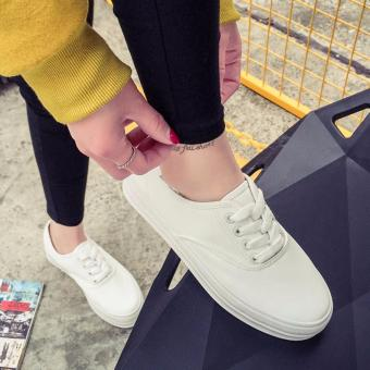 Fashion Canvas Sneakers for Women - White