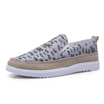 Fashion Classic Leather Flat Loafers -Grey