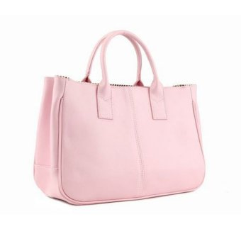 Fashion Elegant Korean shoulder bag Leather Women Lady Tote Handbag Pink