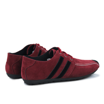 Fashion Flat Laced-ups Shoes-Red - picture 2