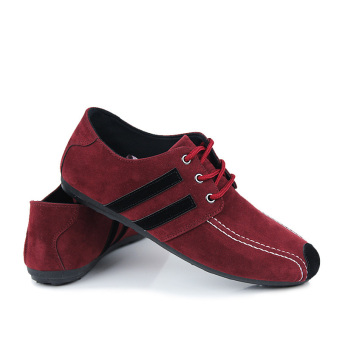 Fashion Flat Laced-ups Shoes-Red