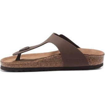 Fashion For Birkenstock Ramses Flat Birko-Flor Flip Flop Men(Brown) - intl - 2