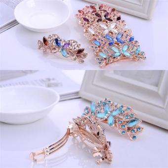 Fashion Hairpin Crystal Diamond Hairpin Spring Horsetail HairAccessories - intl - 2