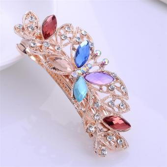 Fashion Hairpin Crystal Diamond Hairpin Spring Horsetail HairAccessories - intl - 4