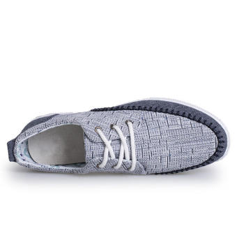 Fashion Lace-Ups Flat Shoes-Grey - picture 2