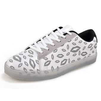 Fashion Laced-ups Flat Shoes-White