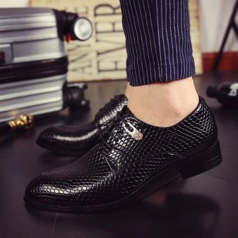 Fashion Luxury Men Formal Leather Shoes (Black) - intl - 2