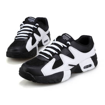 Fashion Men Basketball Sport Breathable Low Cut Sneakers-White - picture 2