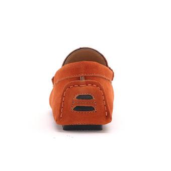 Fashion Men Flat Loafers - Orange - picture 2