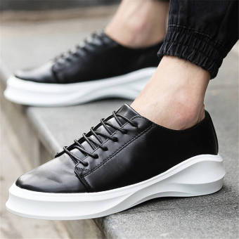 Fashion Men Lace-Ups Flat Shoes – Black