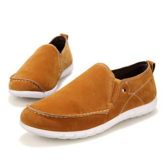 Fashion Men Leisure Flat Loafers – Yellow