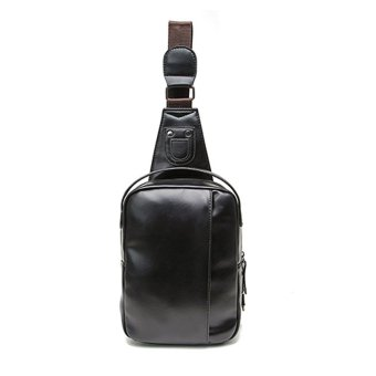 1bbfbeaa72 Detail Images Fashion Men PU Leather Messenger Cross Shoulder Chest Pack  Body Bagblack Ubdate