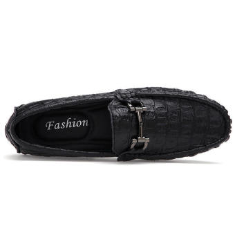 Fashion Men Simple Flat Loafers - Black - picture 2