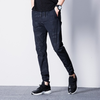 Fashion Men's Camo Army Color Casual Jogger Long Pants-DarkBlue(CN858) - intl - 3