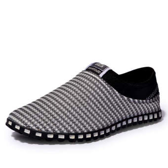 Fashion Mesh Flat Shoes-Grey - picture 2