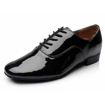 Fashion modern man's ballroom salsa dance shoes latin shoes(Black),,, - Intl
