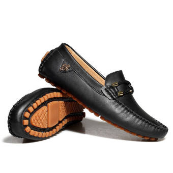 Fashion New Soft Men Leather Shoes (Black) - picture 2