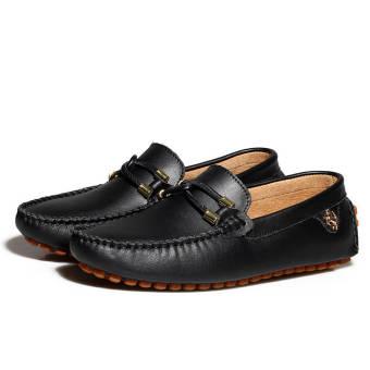 Fashion New Soft Men Leather Shoes (Black)