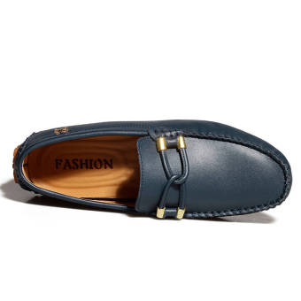 Fashion New Soft Men Leather Shoes (Dark Blue) - picture 3