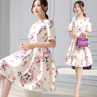 Fashion New style short-sleeved long section dress