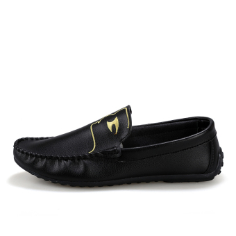 Fashion Pattern Men Loafers - Black - picture 2