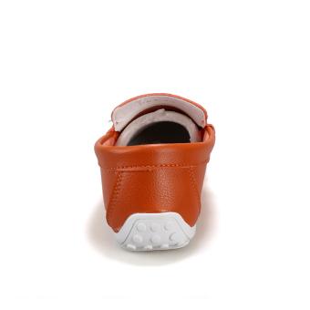 Fashion Pattern Men Loafers - Orange - picture 2