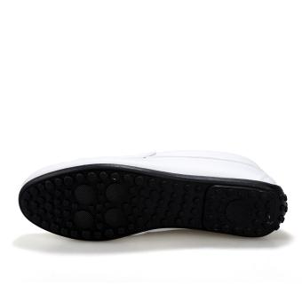 Fashion Pattern Men Loafers - White