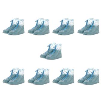 Fashion Rain Shoes Cover Rainy Dops Design (Blue) Large 38-40 - Set9 Price Philippines