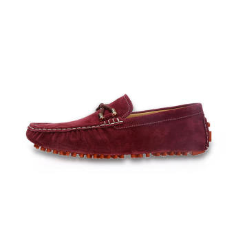 Fashion Seasons Men Leather Loafers - Wine red - picture 2