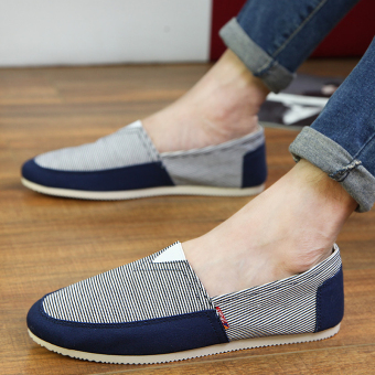 Fashion Simple Convenience Loafers -Dark Blue - picture 3